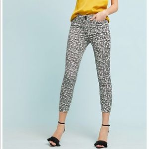 Anthropologie pineapple Bowery pants - sz 2